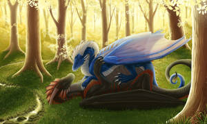 Cuddling in the forest by Surrial