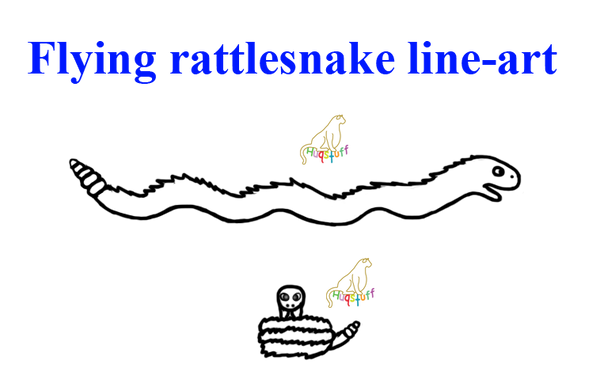 Q Line Art : Free flying rattlesnake line art by huqstuffadopts on
