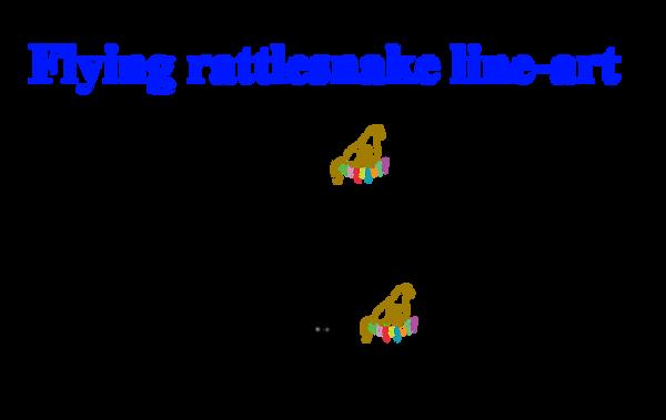 Q Line Art : Free flying rattlesnake line art by huqstuffadopts on