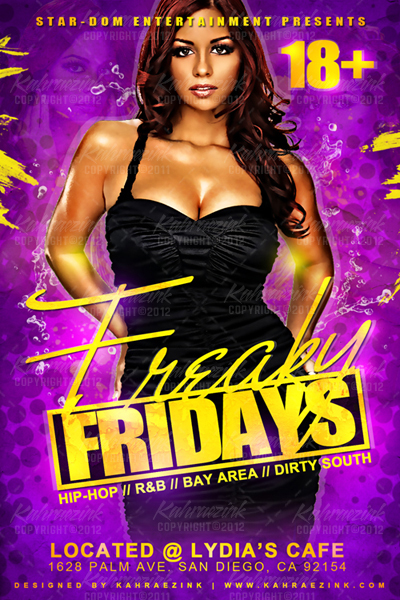 Freaky Fridays Club Flyer Design By Kahraez On Deviantart