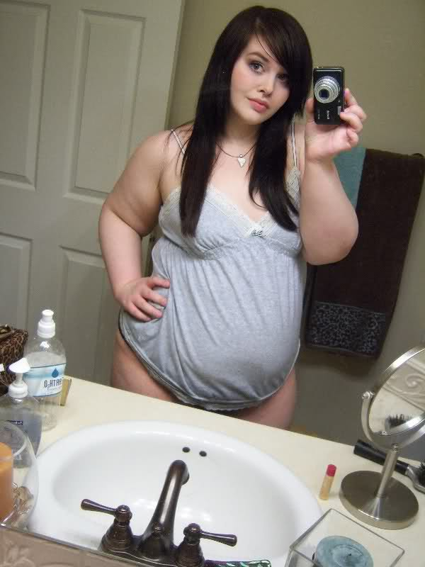 Pretty chubby woman