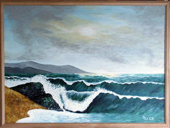 Stormy Sea by from-art-to-art