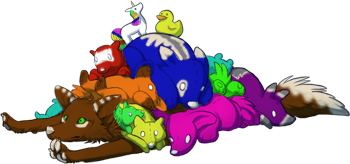Plush colored by CantSeeMeNow