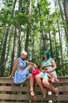 Princess Uranus and Princess Neptune in the forest