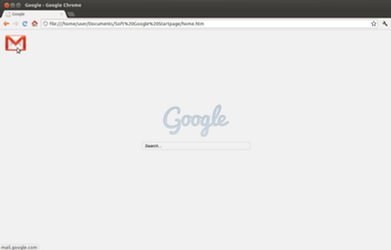 Google Start Page with Gmail Button