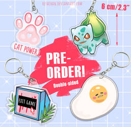 PRE-ORDER |Acrylic Charms| Pokemon, Gudetama