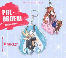 PRE-ORDER   Hatsune Miku Monika   Acrylic Charms
