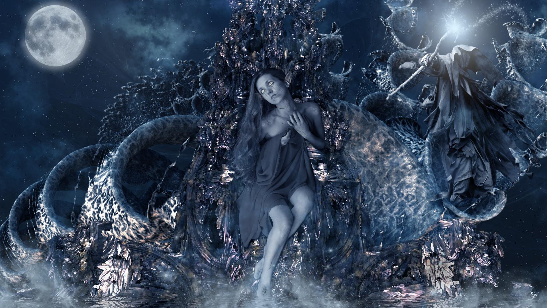 Throne of Dark Elvens by viperv6