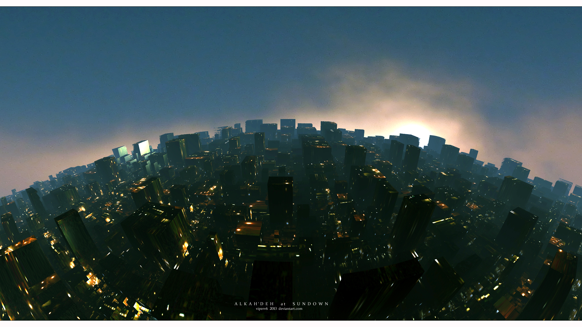 Alkah'Deh at Sundown by viperv6