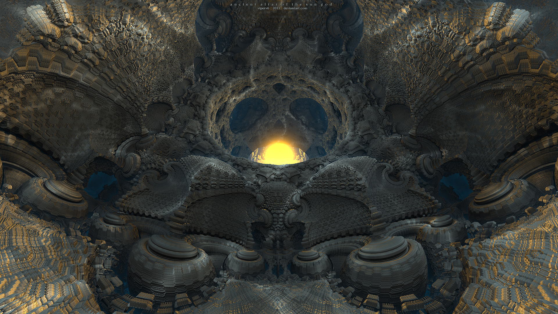 Ancient Altar of the Sun God by viperv6