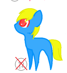 i adopted this little pony just a few minutes ago! by creepypastaqueen167