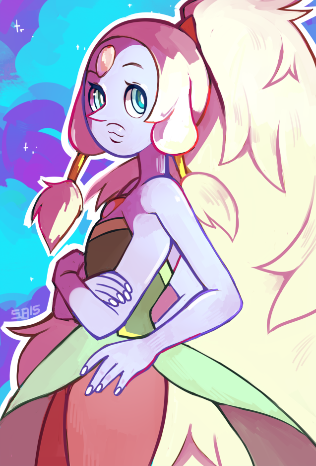 another one of the fusion postcards, in addition to Sugilite and Malachite! you can buy them on my storenvy!  steamedbunnies.storenvy.com/pr…