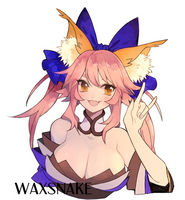 Commission: Tamamo by waxsnake
