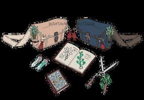 WAXSNAKE BOUTIQUE: Herb Collectors Bag