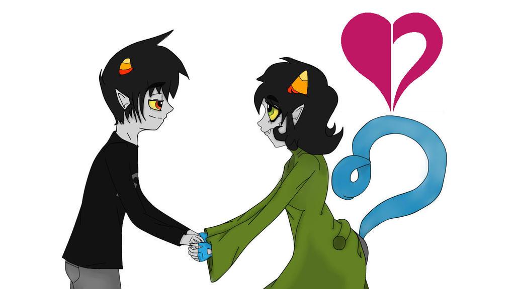 Karkat And Nepeta HOMESTUCK Fan Art By Amber Shy