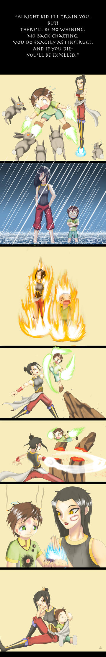 Training with Azula by KY-OutlawSwordsman