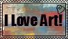 I Love Art Stamp by MidnightMoss