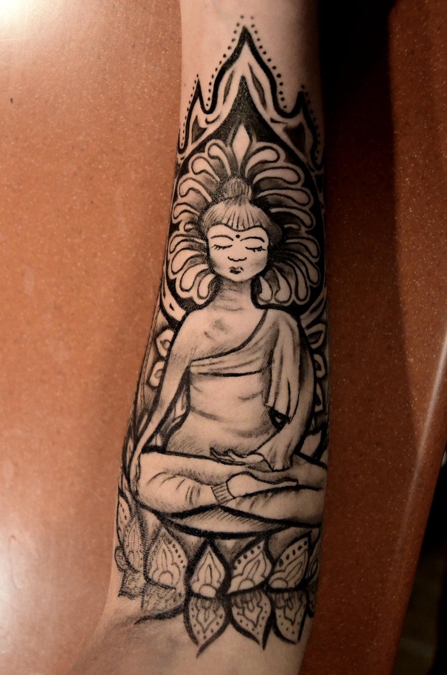 buddha sharpie tattoo by mashamanya on deviantart. Black Bedroom Furniture Sets. Home Design Ideas