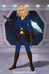Rebel Maketh Tua on Sci-fi-Warrior-by-AzaleasDolls