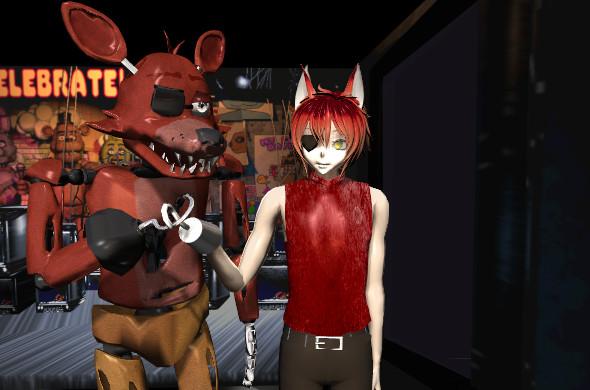 Foxy and Foxy (Human) by YukixKyo4ever