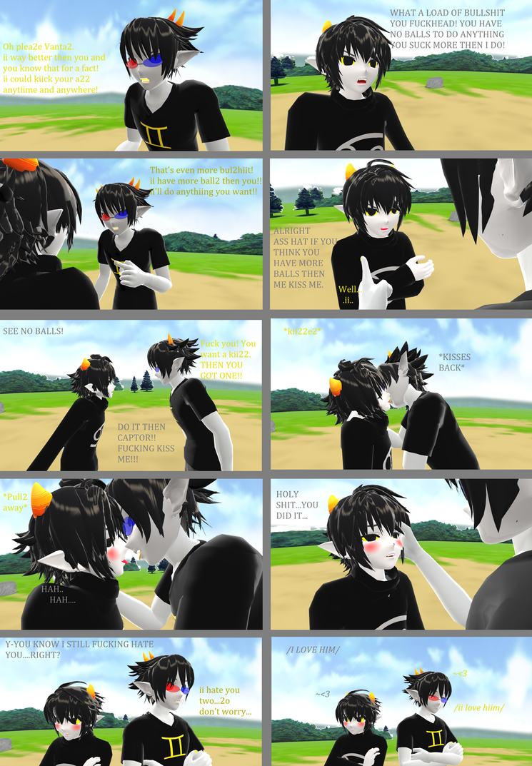 MMD Homestuck-You know I hate you by YugixYamiLove4ever