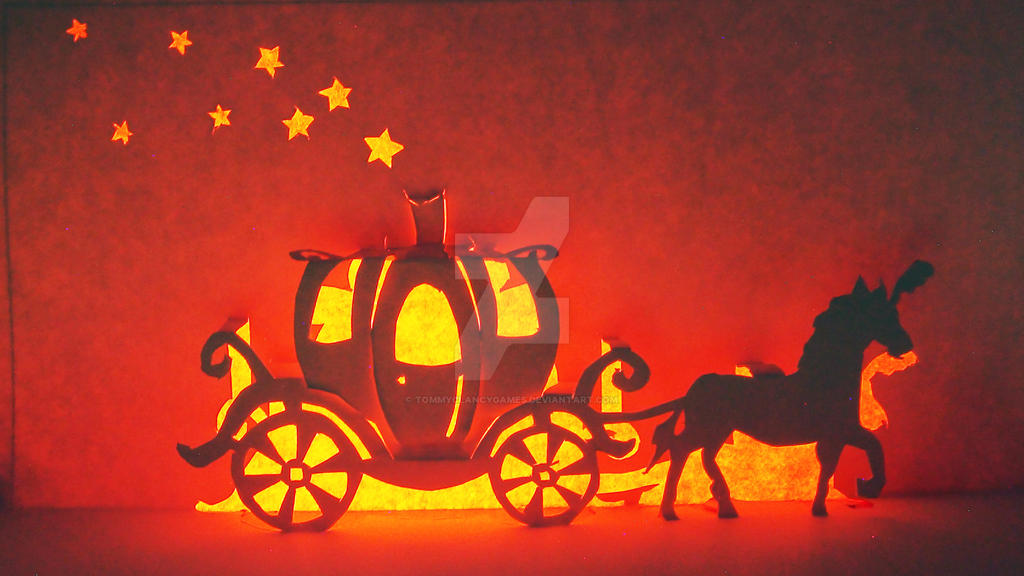 How to make a cinderella carriage pop up card by for How to build a carriage