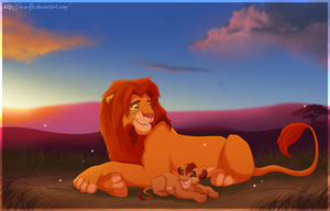 Simba And Kopa by X-ZELFA