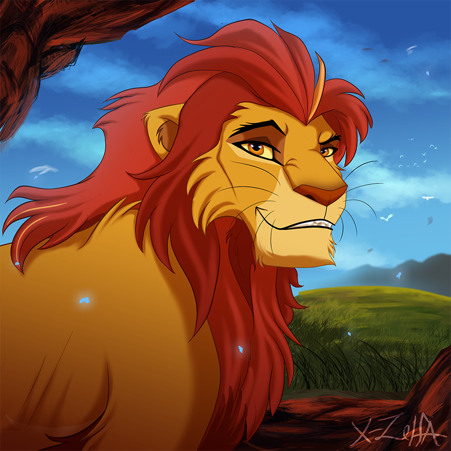 Adult kion by x zelfa on deviantart - Kion le roi lion ...