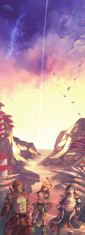 War Skies by d-oppelganger