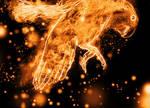 Fire lovebird by Miaw-Asakura