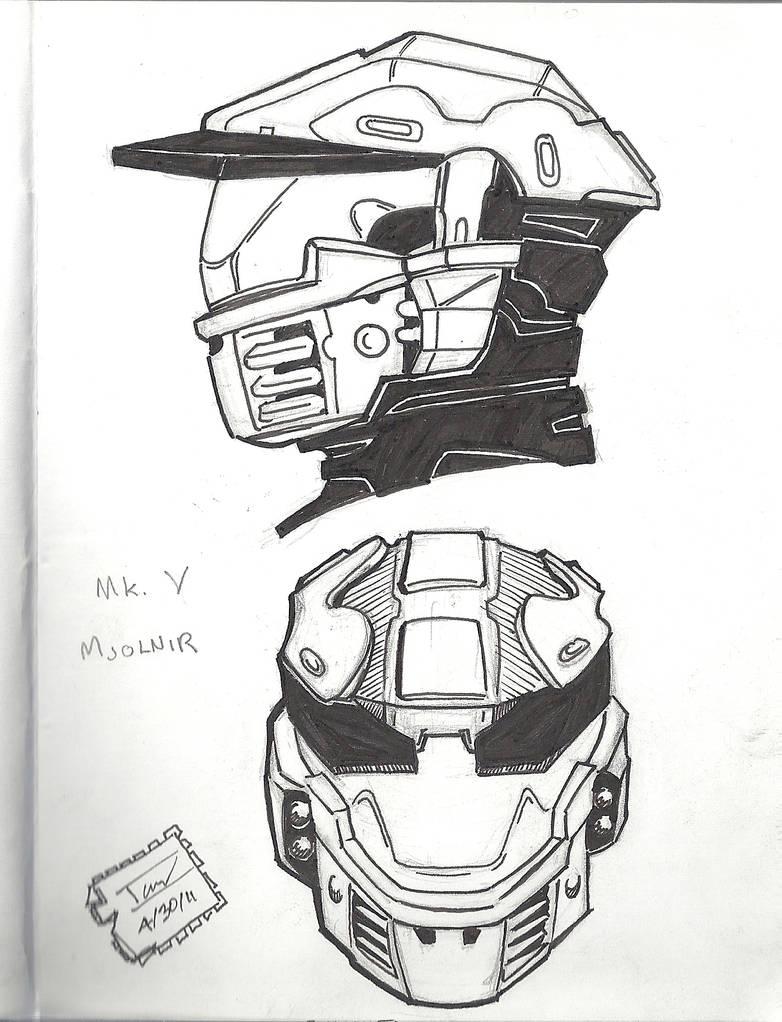 Mark V Mjolnir helmet by raMbo1911 on DeviantArt