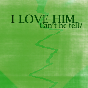 Can't he tell? by wordpainter81