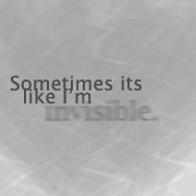 Invisible by wordpainter81