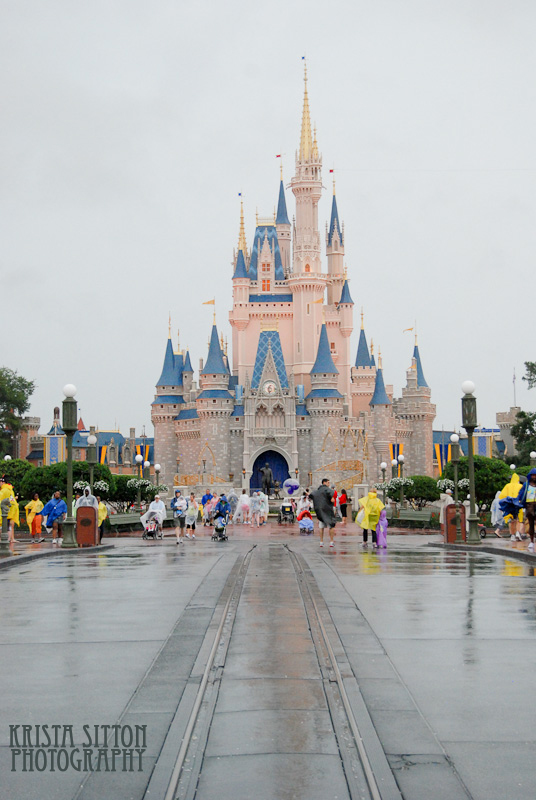 Magic Kingdom in the Rain by wordpainter81
