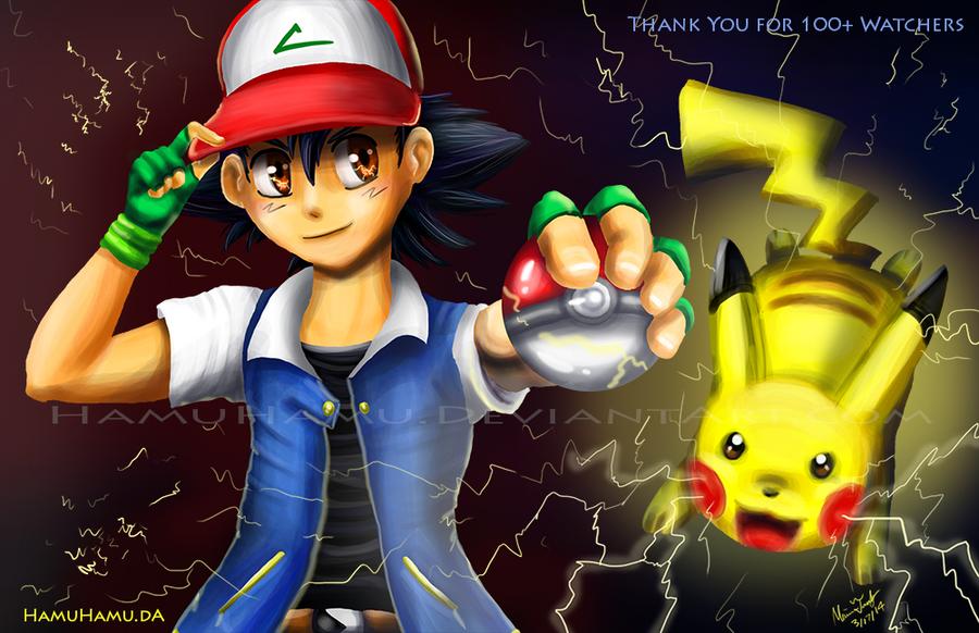 VS Ash and Pikachu by Cascadena