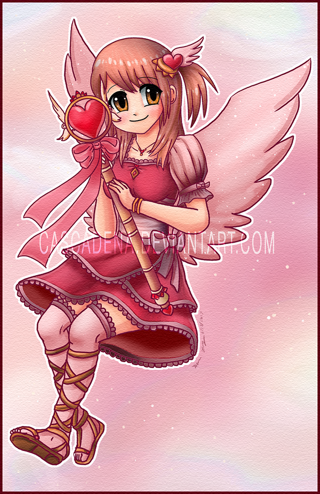 Rose Gold Angel by Cascadena