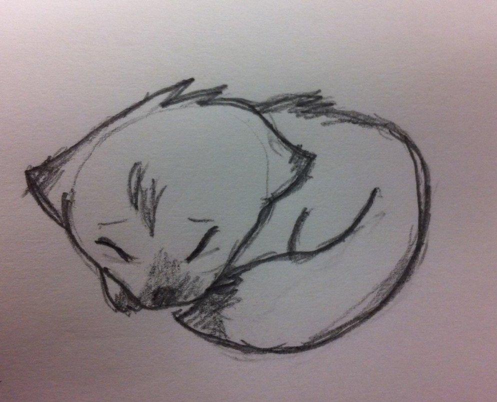 Sleeping Wolf Cub by Jess4ever