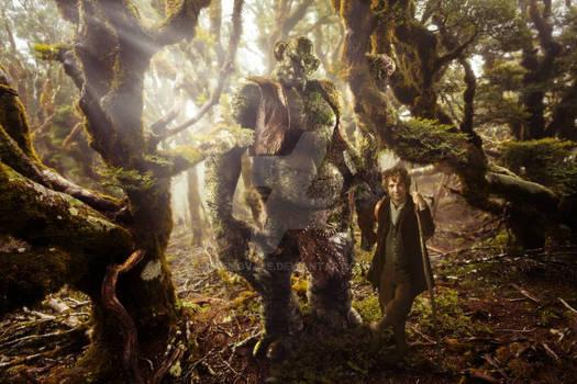 Bilbo and a troll