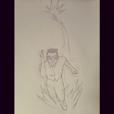 Character sketch, the speedster by Obiosborn