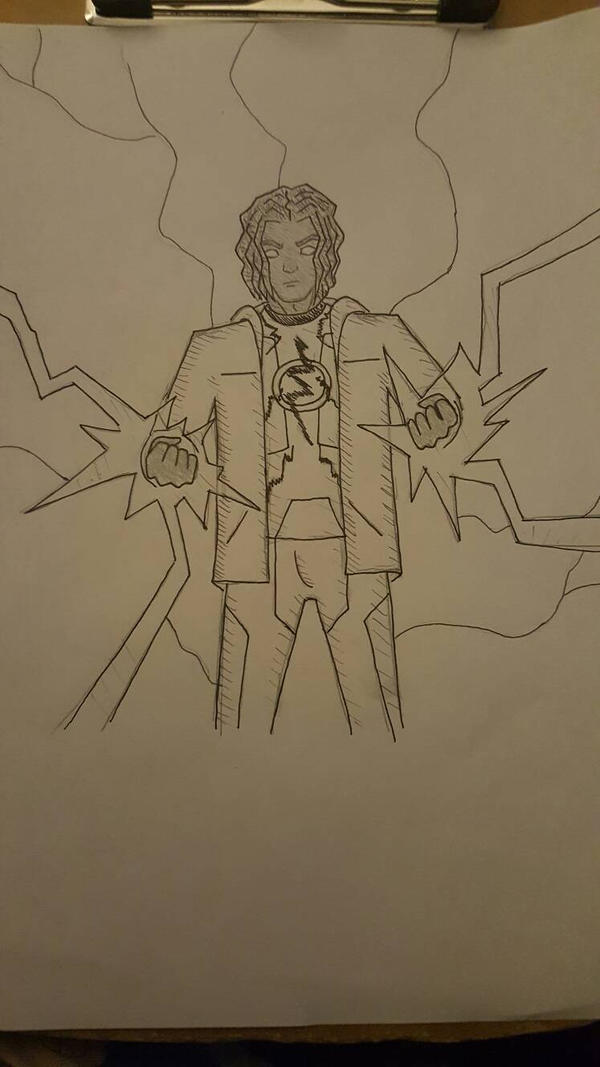 Static Shock inked by Obiosborn