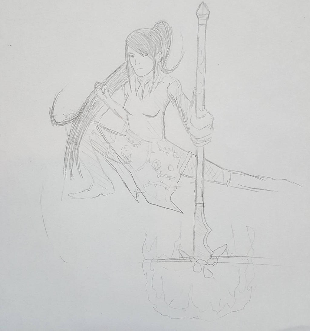 Warrior Sketch by Obiosborn