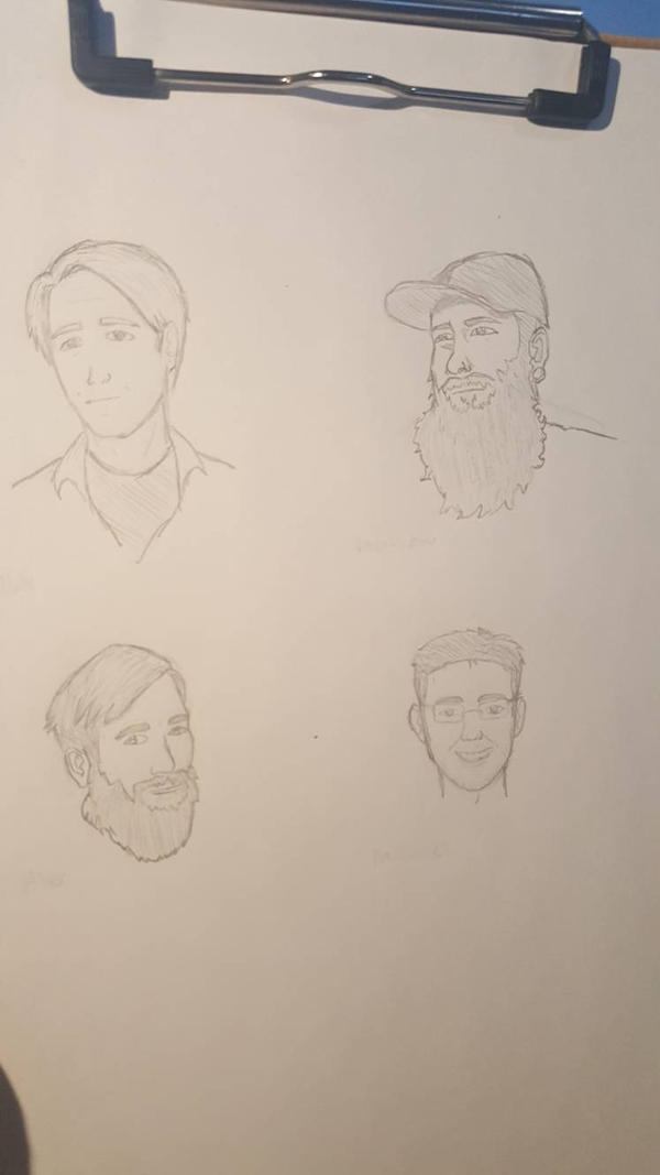 Friend Portraits  by Obiosborn