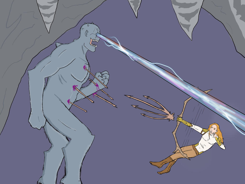 Cyclops vs The Archer  by Obiosborn