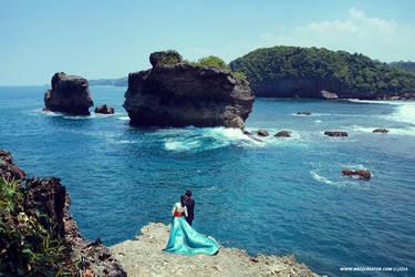 Prewedding at Pantai Malang, Jawa Timur II by antzcreator