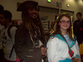 Captain Jack and the least photogenic Haruhi ever! by EternalFireOfDeath