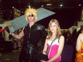 Kairi and Cloud by EternalFireOfDeath