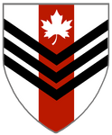 Argent, A Pale Gules, Three Chevronels Inverted Sa by rua-lupa