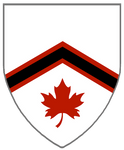 Argent, A Chevron Sable Fimbriated Gules, In Base  by rua-lupa