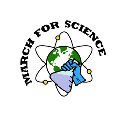MARCH FOR SCIENCE Logo by rua-lupa