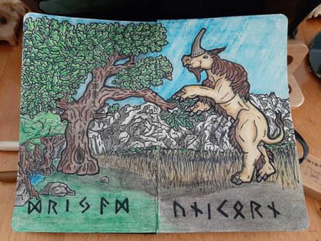 Dryad and Unicorn